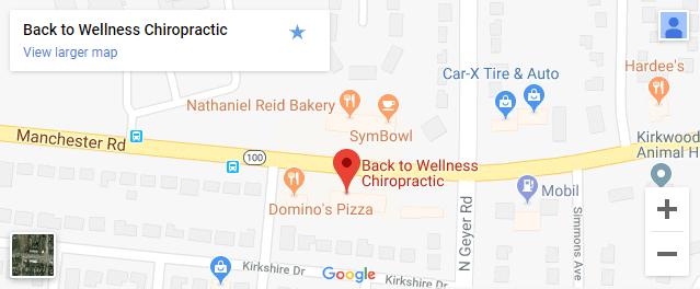 Map of Kirkwood MO Chiropractors